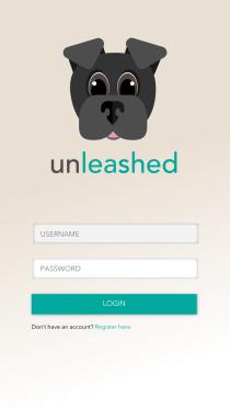 Unleashed - Login Screen
