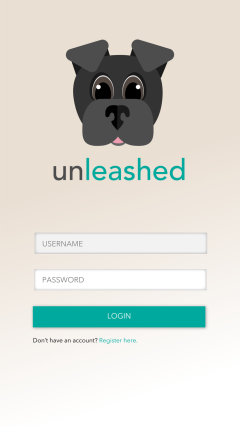 Unleashed - Login Screen